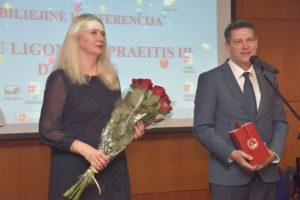 Sveikinimo žodį taria VU Medicinos fakulteto dekanas prof. A. Utkus ir Sveikatos mokslų direktorė prof. N. Fatkulina
