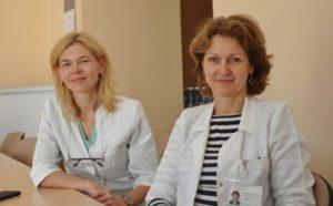 Vaikų onkohematologijos centro vadovė doc. dr. Jelena Rascon (kairėje) ir Vaikų onkohematologijos skyriaus vedėja gydytoja onkohematologė Sigita Stankevičienė