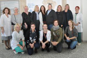 Vaikų onkohematologijos centre su NOBOS slaugytojų grupės atstovais