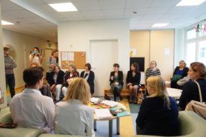 EACH organizacijos atstovai Vaikų onkohematologijos centre
